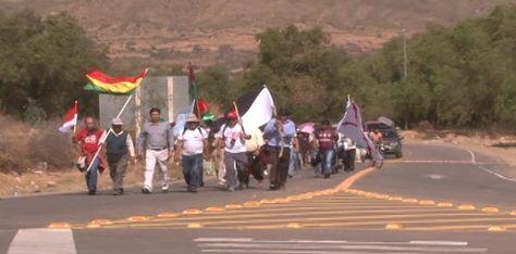 Marcha de cívicos contra la repostulación de Evo Morales. Foto: Comité Cívico de Cochabamba