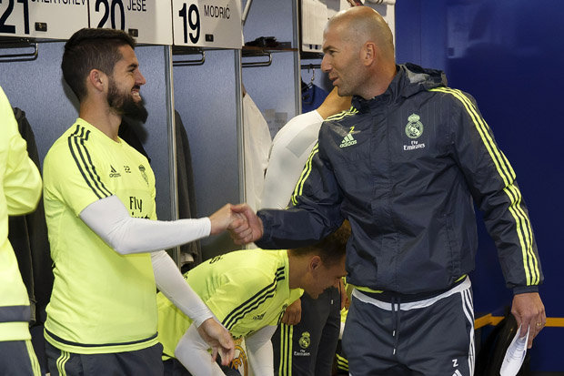 Image result for isco y zidane