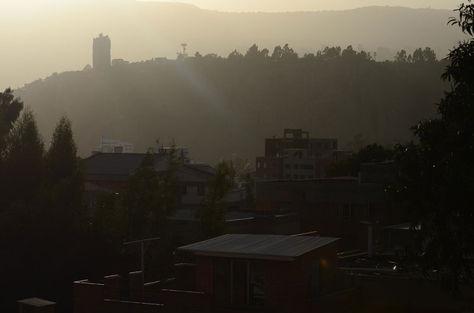 Fuertes vientos en la ciuda de La Paz. Foto: La Razón