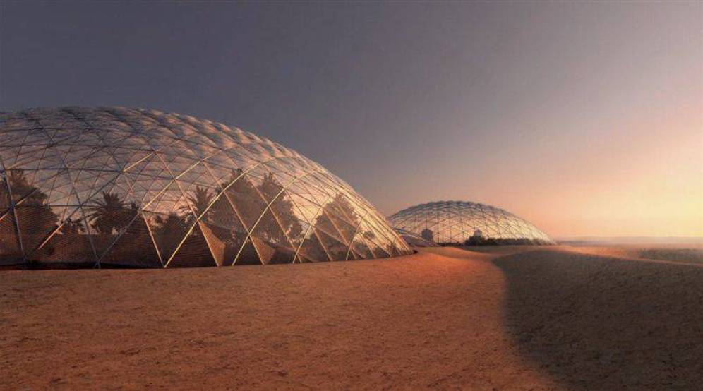 Foto: Así es como el gobierno de Dubái planea que sea la ciudad marciana. (FOTO: Dubái)