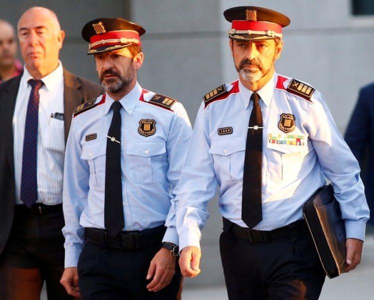 Josep Lluis Trapero, jefe de los Mossos d'Esquadra, al llegar al alto tribunal español (REUTERS/Javier Barbancho)