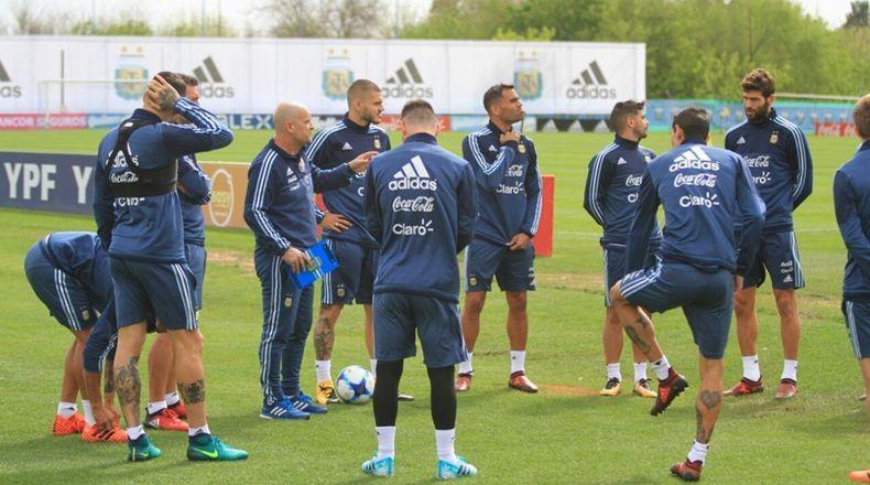 Resultado de imagen para sampaoli entrenamientos seleccion argentina