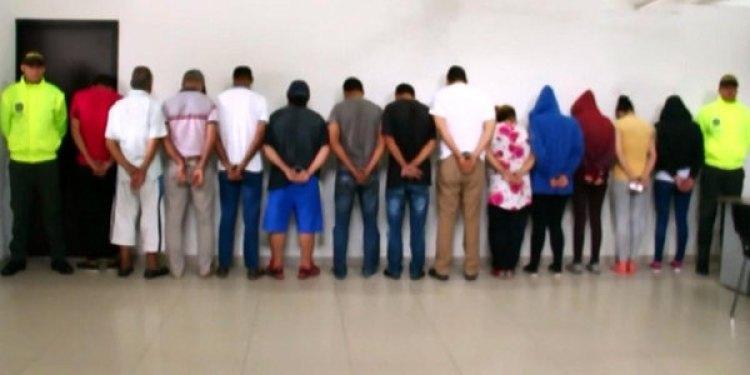 La red criminal desbaratada (Foto: Policía Nacional/El Tiempo)