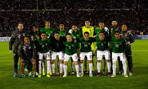 Selección boliviana que el martes participó en el juego con Uruguay en la última fecha por las eliminatorias sudamericanas