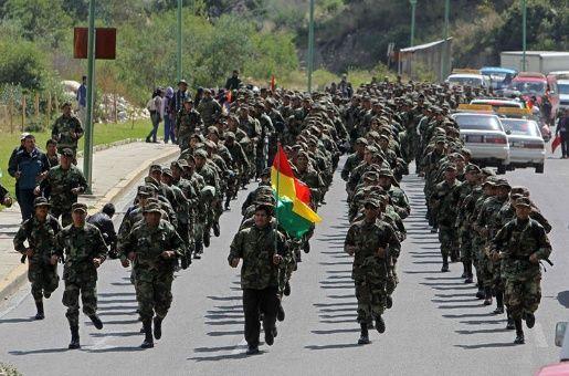 Resultado de imagen de ejercicios militares en bolivia