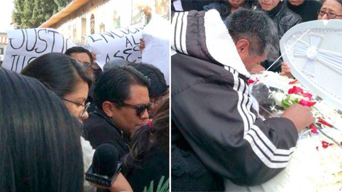 """""""JUSTICIA"""" ERA EL PEDIDO AL MOMENTO DEL ENTIERRO DE STEPHANIE."""