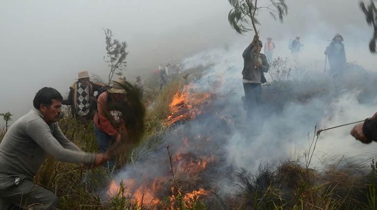Resultado de imagen de municipio de Pojo como zona de desastre por incendio