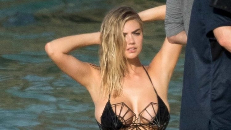 Kate Upton en las playas de Aruba (Grosby Group)