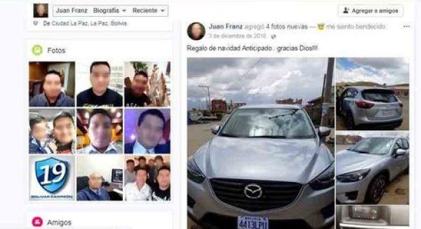 La página de Facebook de Juan P., el principal acusado del desfalco al Banco Unión, que ahora está desactivada.