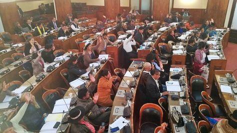 Sesión de la Cámara de diputados este miércoles.