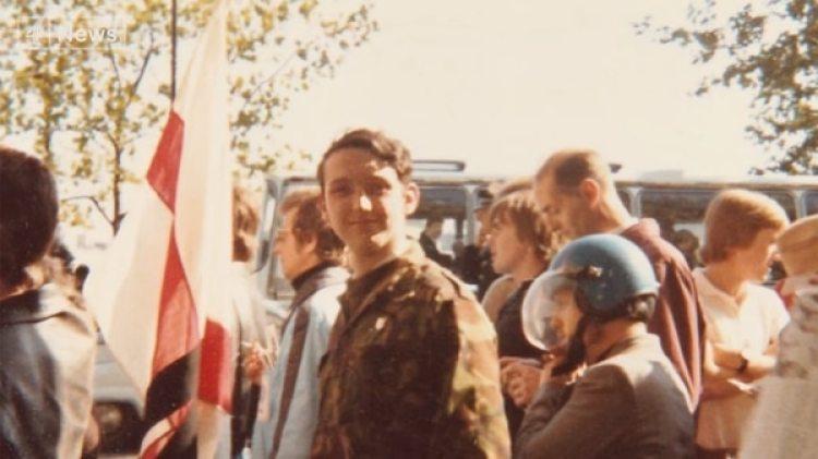 Wilshaw, en sus primeros pasos como miembro de la extrema derecha británica