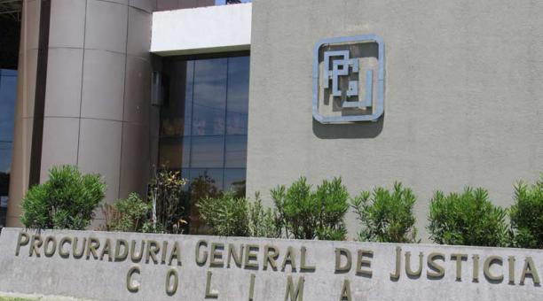 Fachada de la Procuraduría General de Justicia de Colima. Foto: Twitter PGJE Colima / ElComercio.com