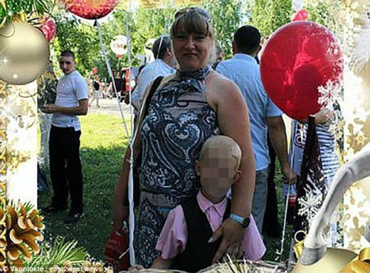 Natalia con su hijo Iván.