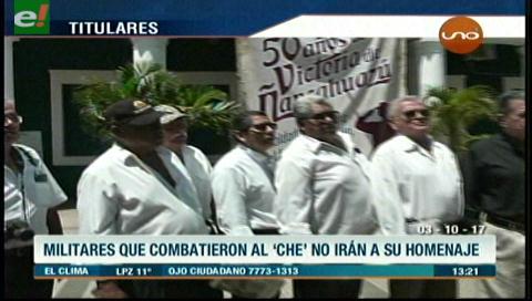 Video titulares de noticias de TV – Bolivia, mediodía del martes 3 de octubre de 2017