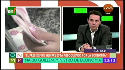 Guillén dice que la economía boliviana podría crecer a 4.5% en 2018