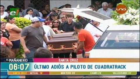 Dieron el último adiós al joven piloto José Miguel Vaca Díez