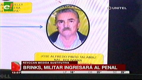 Envían a Palmasola a exmilitar acusado de dar armas en el caso Brinks