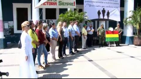 Bancada parlamentaria Demócrata rinde homenaje y desagravia a los beneméritos de la guerrilla