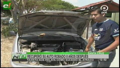 Hombre recuperó su vehículo robado ocho años después