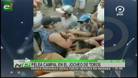 "Warnes: Pelea campal en un ""jocheo"" de toros"