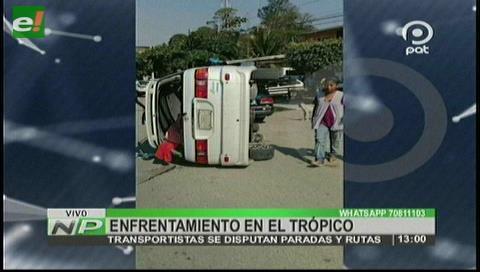Ivirgarzama: Transportistas se disputan a golpes las paradas y rutas