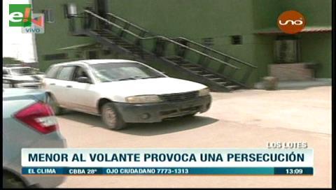 Menor al volante provoca una persecución policial