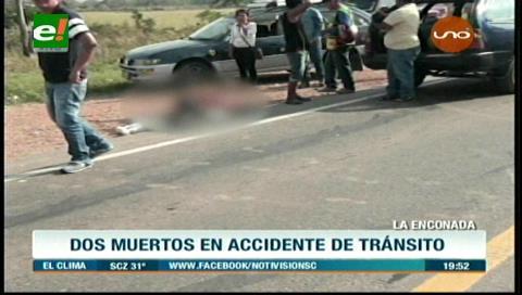 Choque de una vagoneta y motocicleta cobra dos vidas