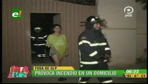 Incendio en un domicilio por una fuga de gas