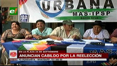 El MAS anuncia una marcha y cabildo en apoyo a la reelección Morales