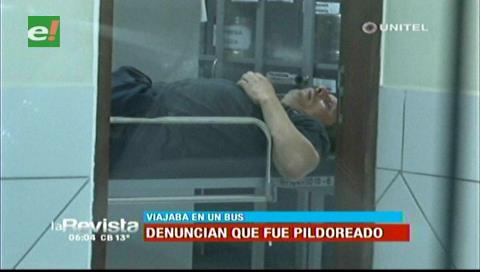 "Dos pasajeros son ""pildoreados"" en un bus cuando viajaban de Yacuiba a Santa Cruz"