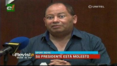 """Sport Boys: Romero advierte con sacar a dirigentes """"mediocres"""" y """"torpes"""" del fútbol boliviano"""
