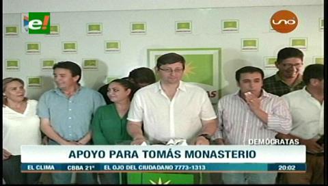 Amenaza a parlamentario: Demócratas brindan su total apoyo a Tomás Monasterio