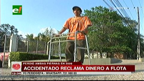 Hombre lleva ocho años pidiendo una indemnización tras perder ambas piernas