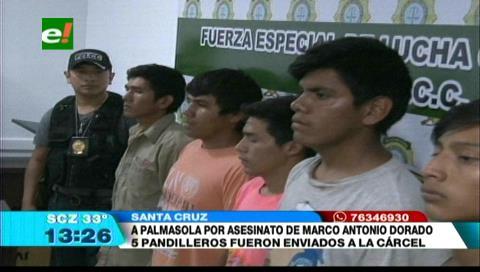 Pandilleros fueron enviados a Palmasola acusados de matar a un joven