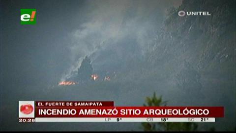 Lluvia apagó incendio que amenazaba a comunarios en Samaipata