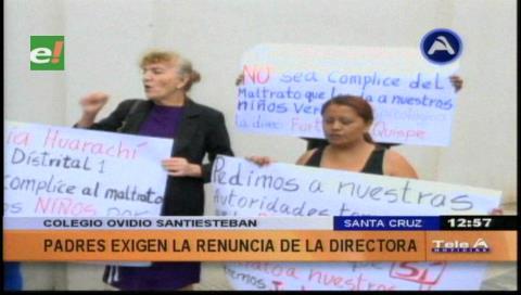 Santa Cruz: Padres piden destitución de directora de colegio