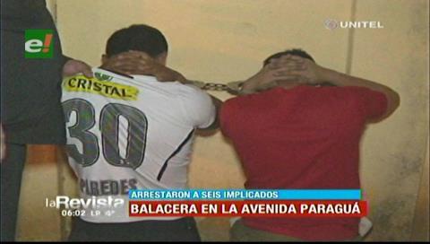Detienen a jóvenes que protagonizaron una balacera en la avenida Paraguá