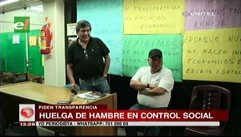 Santa Cruz: Dirigentes de Control Social exigen rendición de cuentas a su presidente