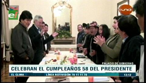 Así festeja su cumpleaños número 58 Evo Morales