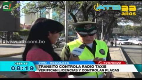 Tránsito de Cochabamba realiza operativos de control en radiotaxis