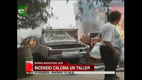 Incendio total de una casa en el barrio Magisterio