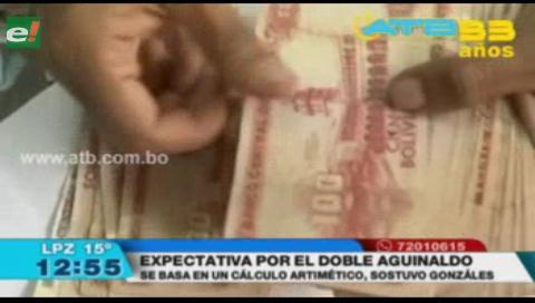 El pago del doble aguinaldo se basa en un cálculo aritmético y no político, según Gonzales
