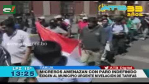 Transportistas de Tarija marcharon por el incremento de tarifas