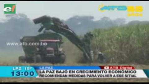 La Paz perdió el primer lugar en inversión y crecimiento económico, según el presidente de la FAM