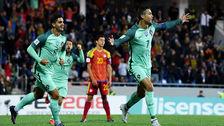 Cristiano encontró el gol que ilusiona a Portugal