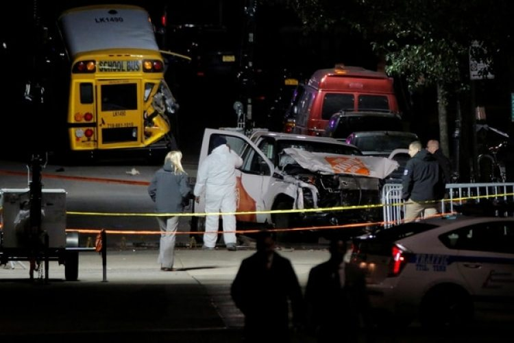 La camioneta usada en el ataque (REUTERS/Andrew Kelly)