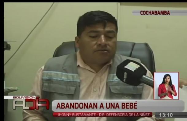 Rescatan a bebita de dos días de nacida en Cochabamba