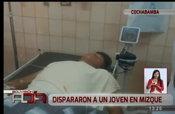 Joven fue herido de bala en Mizque