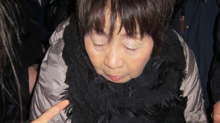 Chisako Kakehi durante una audiencia en la corte en 2014 (AFP)