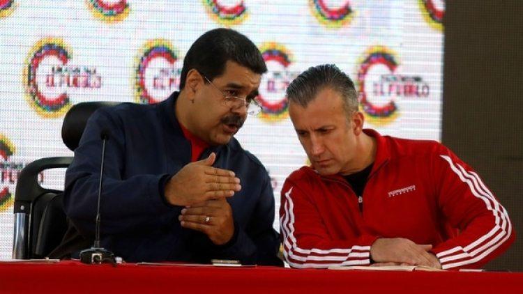 Nicolás Maduro junto con el vicepresidente Tareck El Aissami, acusado de narcotráfico (Reuters)